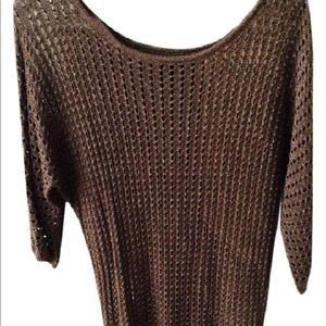 Express gold and brown pullover